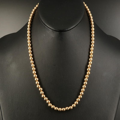 14K Beaded Necklace