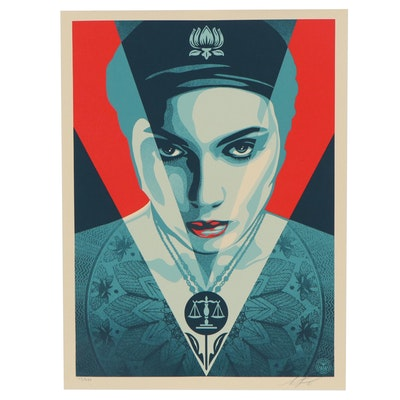 "Shepard Fairey Serigraph ""Justice Woman Red,"" 2021"