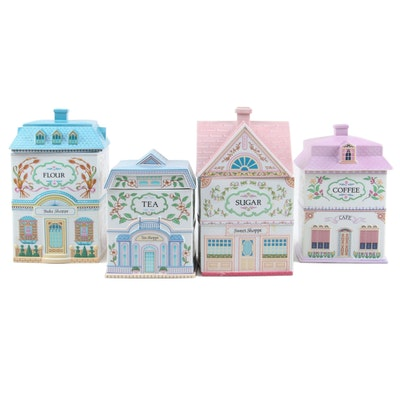 """The Lenox Village """"Tea Shoppe"""" and Other Porcelain Cottage Canisters"""