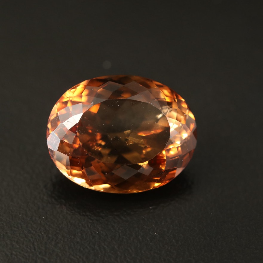 Loose 17.43 CT Oval Faceted Topaz