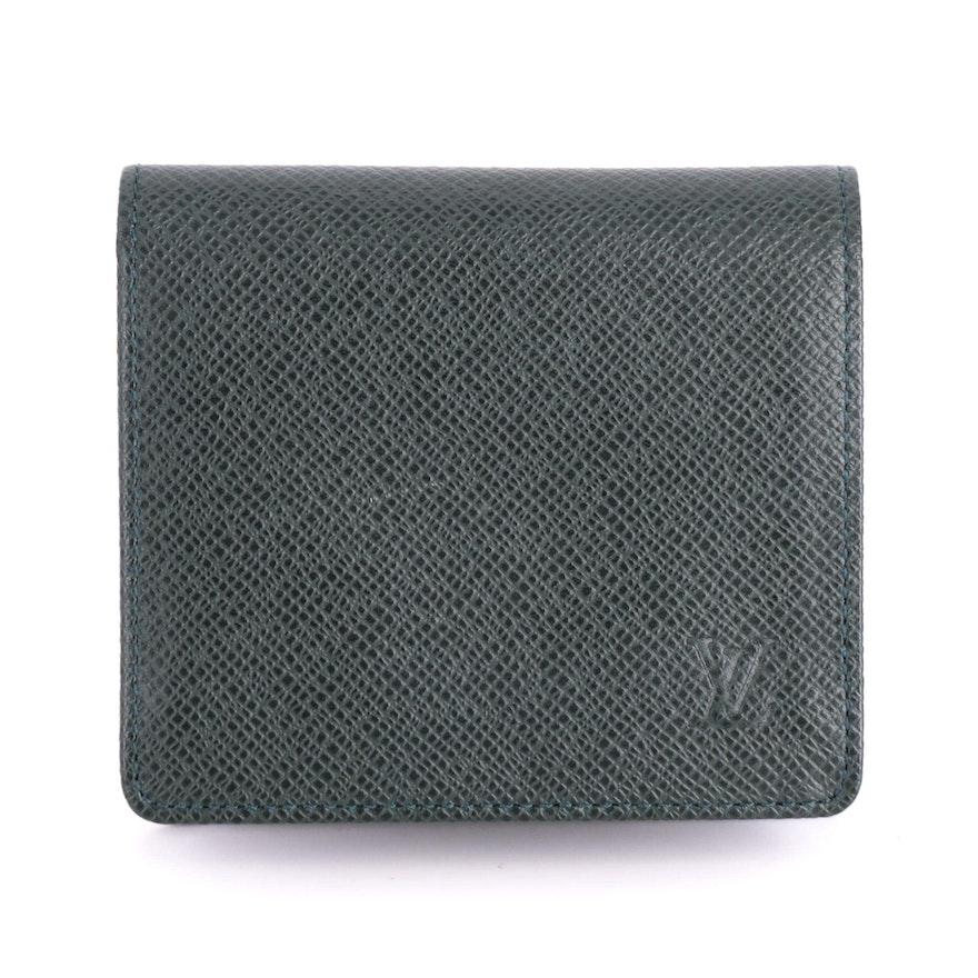 Louis Vuitton Porte-Billets Wallet in Epicea Green Taïga Leather