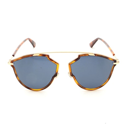 Christian Dior So Real Rise Sunglasses in Havana/Rose Gold with Case and Box