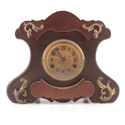 New Haven Clock Co. Victorian Wood Cased Mantel Clock, Late 19th/Early 20th C.