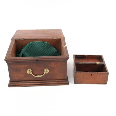 Mahogany and Chestnut Hinged Document Boxes, Antique