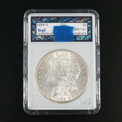 Better Date Lower Mintage 1889-S Morgan Silver Dollar