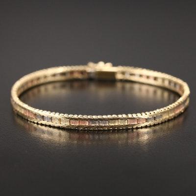 Italian 14K Tri-Color Bracelet