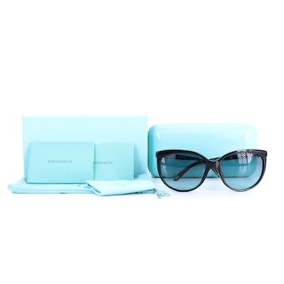 Tiffany & Co. TF 4097 Sunglasses with Roman Numeral Temples and Includes Case