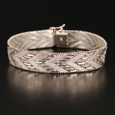 Italian Sterling Silver Riccio Link Bracelet
