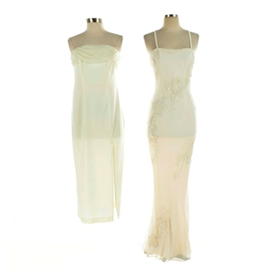 Scala Beaded Silk and Susan Roselli Strapless and Sleeveless Occasion Dresses