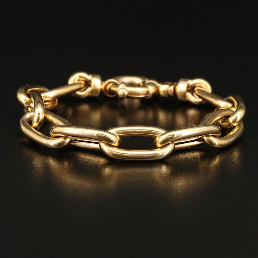 14K Italian Cable Link Bracelet