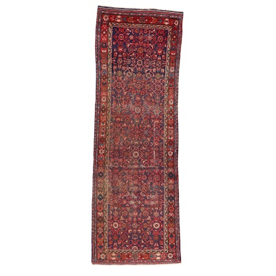 3'2 x 9'8 Hand-Knotted Persian Malayer Carper Runner, 1920s
