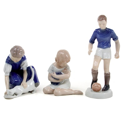 """Bing & Grøndahl """"Only One Drop"""" and Other Porcelain Figurines"""