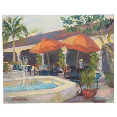 """Mary Mirabito Oil Painting """"Fountain Activity,"""" 2021"""
