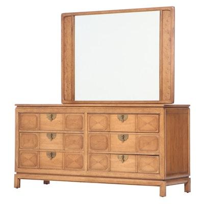 "Thomasville ""Tamerlane"" Asian Modern Pecan Six-Drawer Dresser, Mid-20th Century"