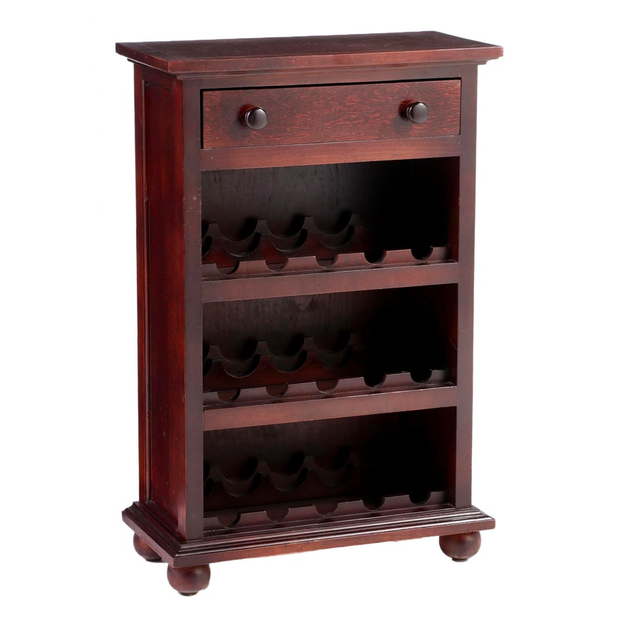 French Provincial Style Fifteen-Bottle Wine Cabinet