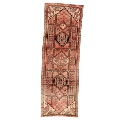 3'5 x 10'3 Hand-Knotted Northwest Persian Long Rug, 1960s