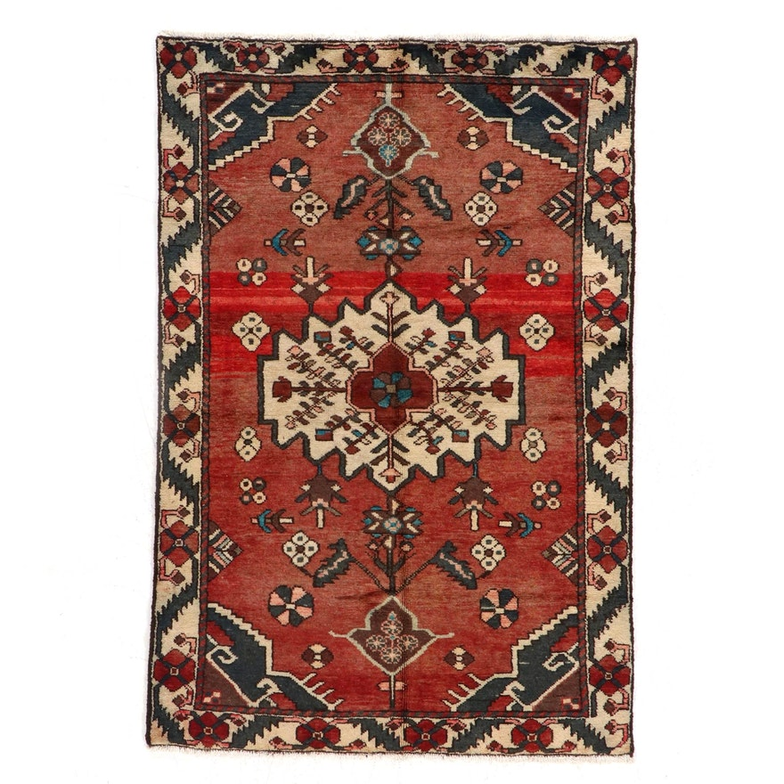 4'4 x 6'7 Hand-Knotted Northwest Persian Area Rug