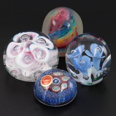 """Josh Simpson, Murano """"Millefiori"""" and St. Clair Art Glass Paperweights"""