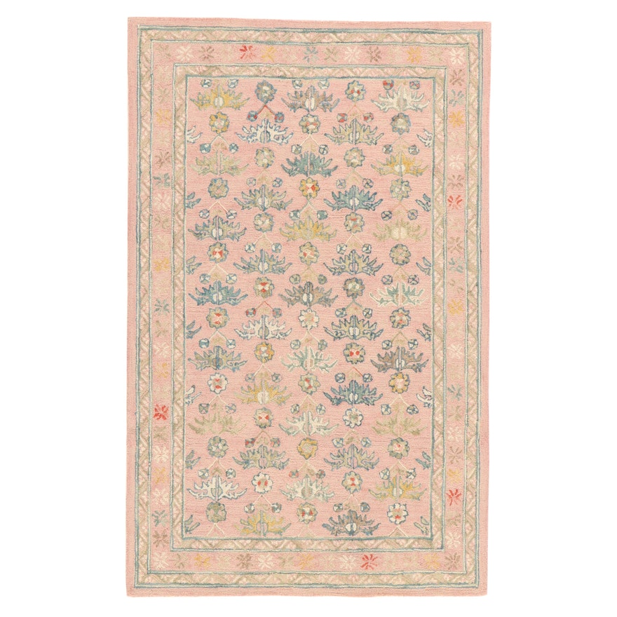 5' x 8' Hand-Tufted Indo-Persian Mahal Rug, 2010s