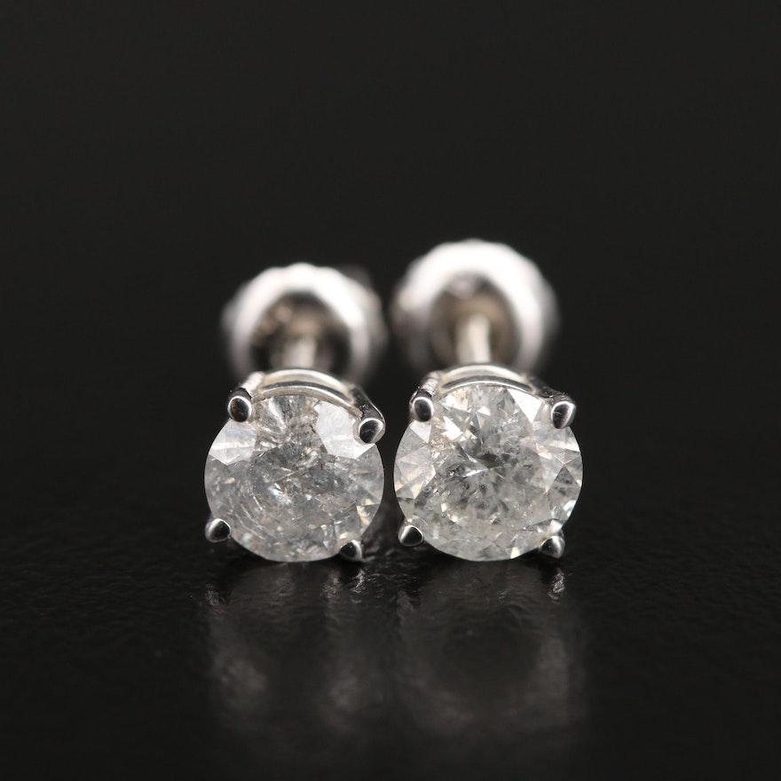 14K 1.48 CTW Diamond Stud Earrings