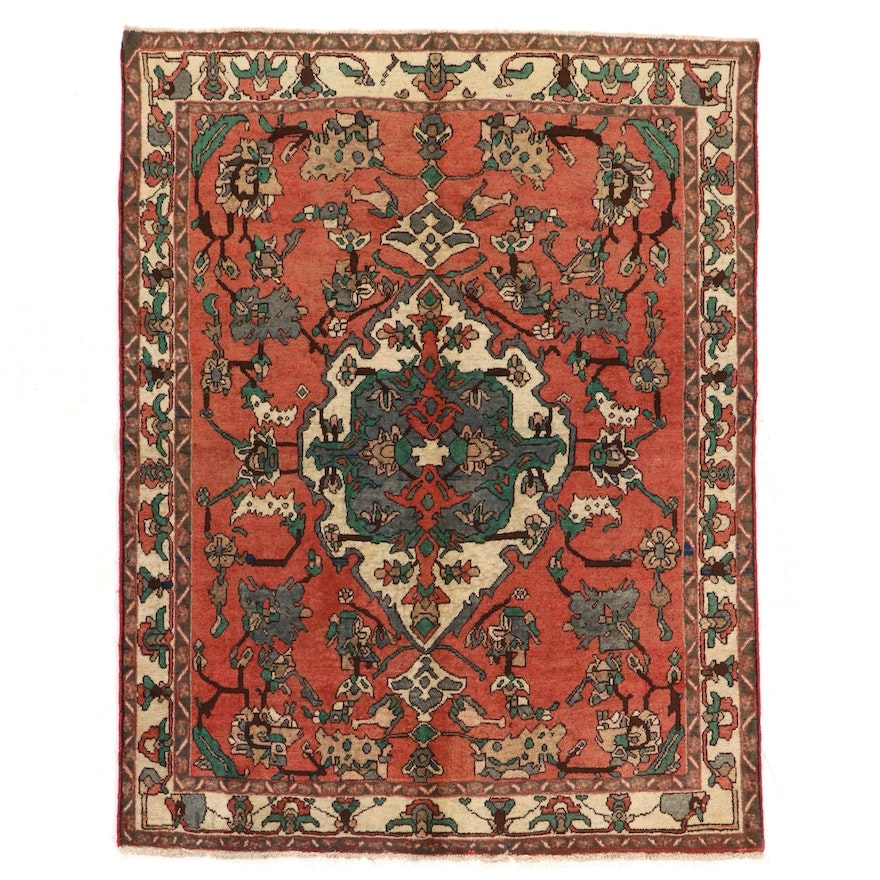 5' x 6'6 Hand-Knotted Persian Malayer Area Rug