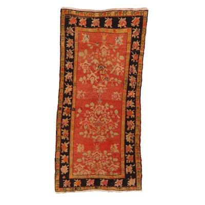 4'1 x 9' Hand-Knotted Caucasian Kazak Karabagh Rug, 1930s