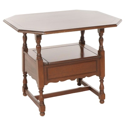 Colonial Style Mahogany Bench Convertible Table, Mid to Late 20th Century