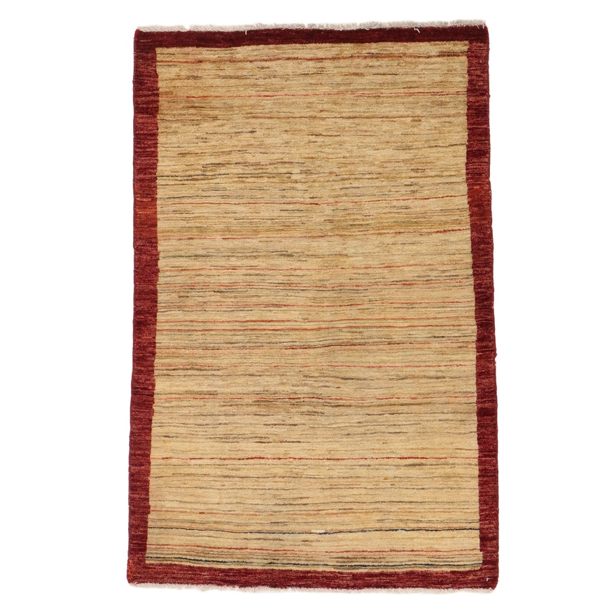 3'1 x 4'9 Hand-Knotted Pakistani Gabbeh Rug, 2000s