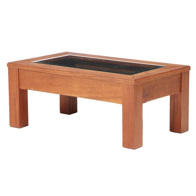 Arts and Crafts Style Mahogany Vitrine Coffee Table