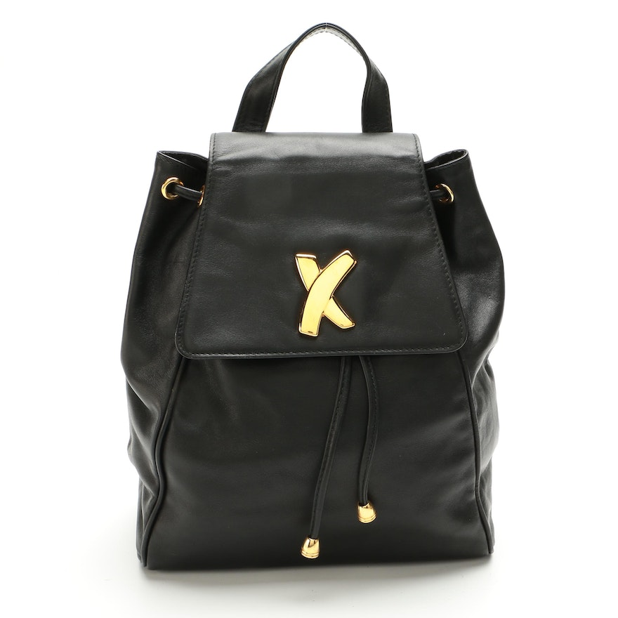 Paloma Picasso Black Leather Sling Bag