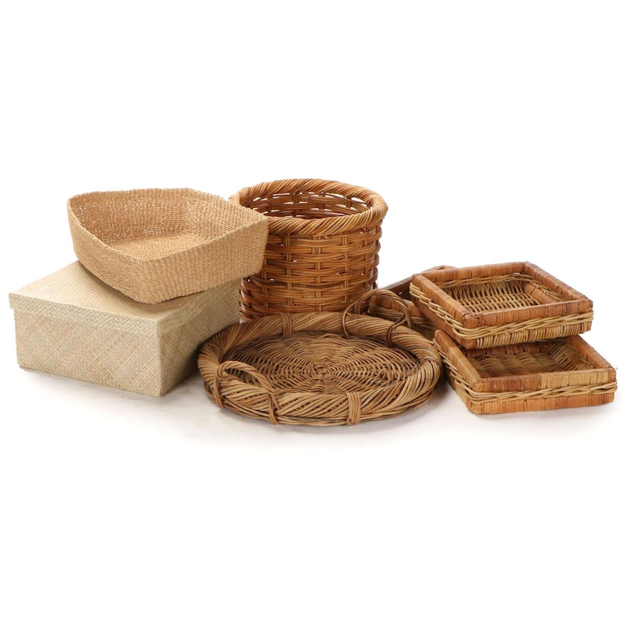 Woven Reed, Willow and Other Storage Baskets