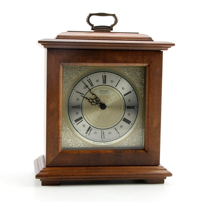 Seiko Wood Cased Carriage Clock, Late 20th Century
