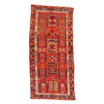 4'7 x 9'10 Hand-Knotted Caucasian Kazak Rug, 1900s