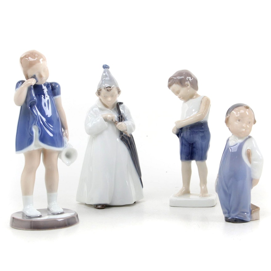 Royal Copenhagen and Bing & Grøndahl Porcelain Figurines, Late 20th Century