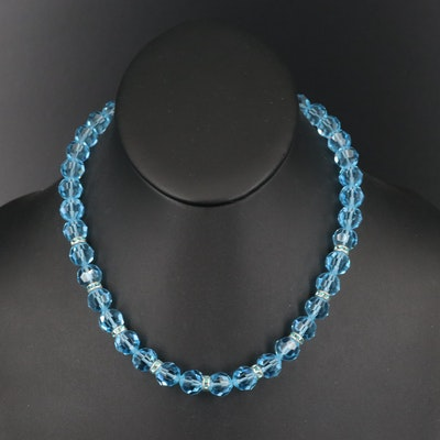 Rhinestone Beaded Necklace