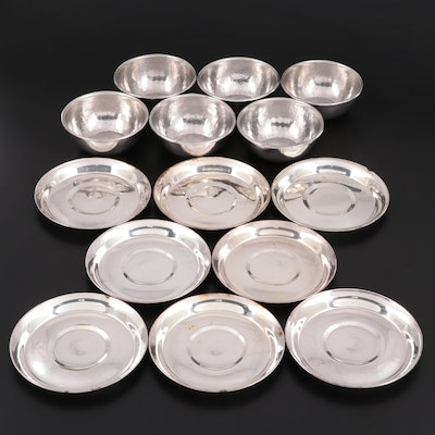 U.S. Navy Silver Plate Saucers with Russian Finger Bowls