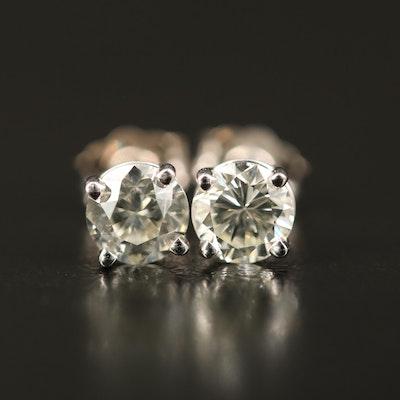 14K 0.95 CTW Diamond Stud Earrings with GIA eReports