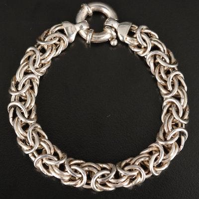 Sterling Byzantine Link Bracelet