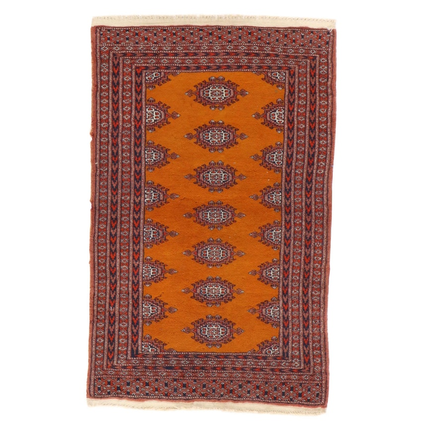 2'1 x 3'5 Hand-Knotted Pakistani Turkmen Bokhara Rug, 1990s