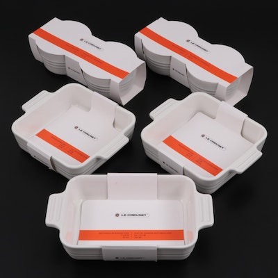 Le Creuset Square and Rectangular Stoneware Baking Dishes with Ramekins