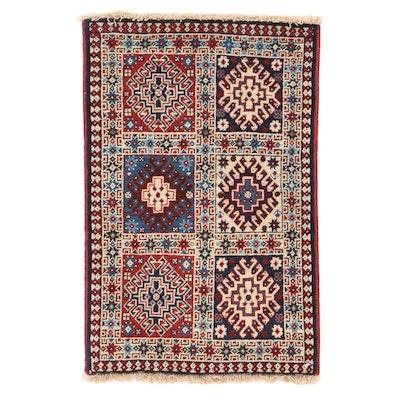 1'7 x 2'7 Hand-Knotted Persian Yalameh Shiraz Rug, 1980s