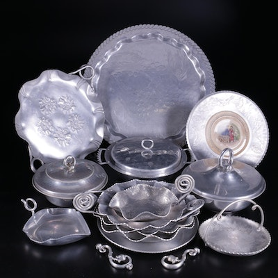 Farberware Aluminum Trays and Other Tableware, Mid-20th Century