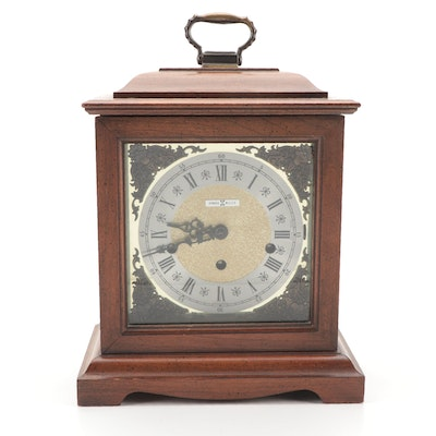 Howard Miller Wooden Carriage Mantel Clock, Mid to Late 20th C.