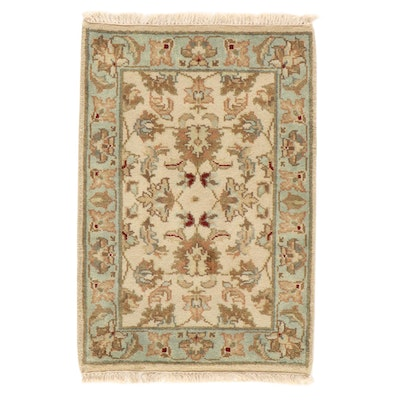2'2 x 3'3 Hand-Knotted Indo-Turkish Oushak Rug, 2000s