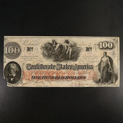 1862 CSA $100 Banknote, T-41