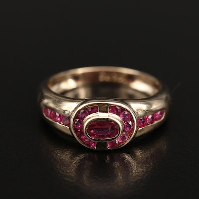 14K Bezel and Channel Set Ruby Ring