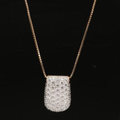 14K Pavé Cubic Zirconia Necklace