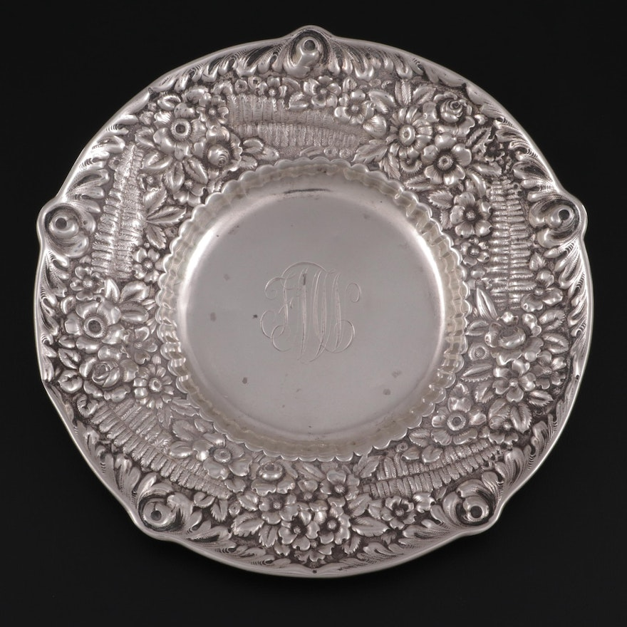 """Tiffany & Co. """"Repoussé"""" Sterling Silver Serving Bowl, Late 19th Century"""