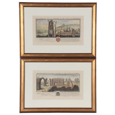 Samuel and Nathaniel Buck Etchings of Catholic Architectural Ruins, 1729 - 1739