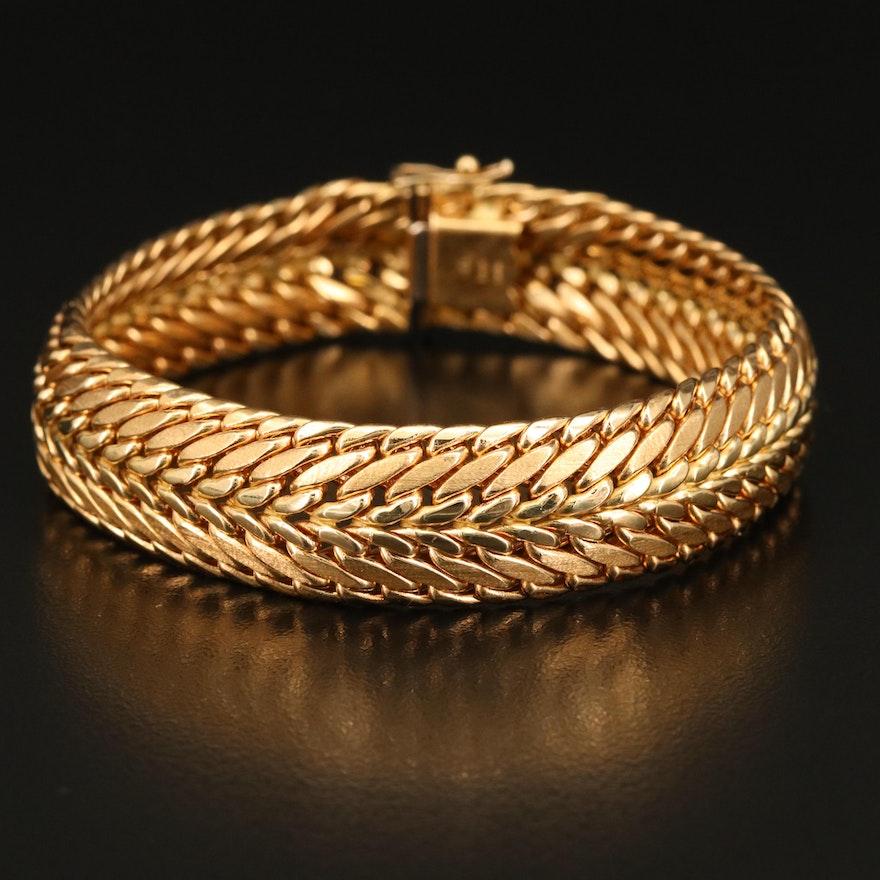Italian 18K Fancy Link Bracelet
